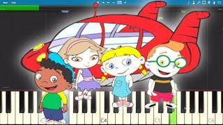Little Einsteins Theme Song - EASY Piano Tutorial