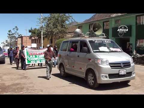 QUIPAN : MANIFESTACION EN LA FISCALIA DE CANTA VENTA ILEGAL DE TIERRAS COMUNALES.