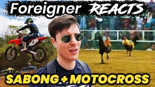 Foreigner Reacts to SABONG & MOTOCROSS in the Philippines!