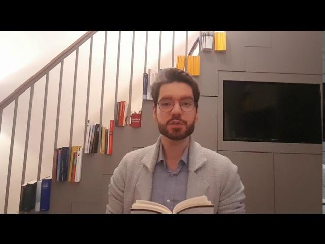 """Adriano Mannino liest aus """"Covid-19: Was in der Krise zählt"""""""