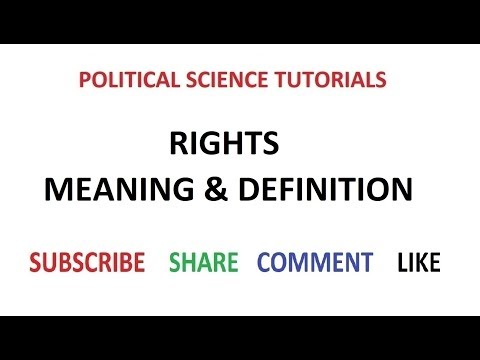 Meaning & Definition of Rights