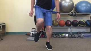 A fairly advanced exercise for leg stability: Single Leg Jumps
