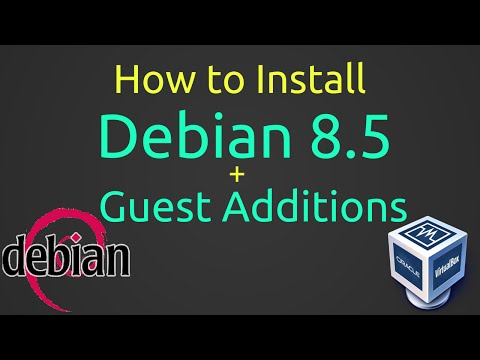How to Install Debian 8.5 and Guest Additions on Oracle VirtualBox Step by Step Tutorial [HD]