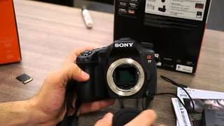 sony slt a77v and dt 16 105mm α lens alpha unboxing and hands on igyaan dslr
