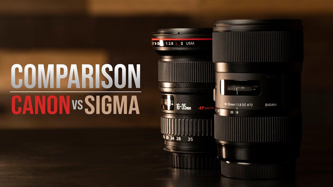 Canon 16 35 Vs Sigma 18 35 Youtube