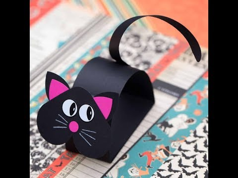 DIY Paper Crafts for Kids - So Cute Cat out of Paper + Tutorial !