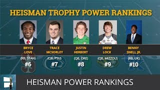 Heisman Trophy Power Rankings: Tua, Haskins Separate From The Pack