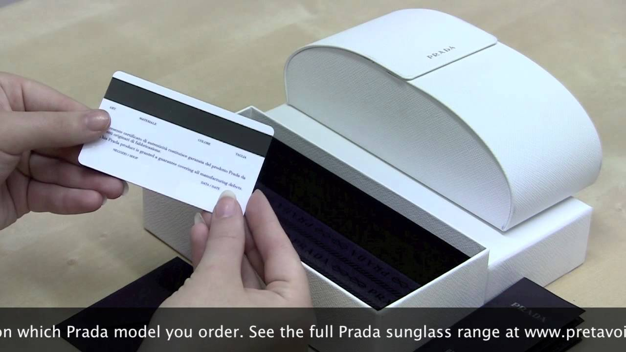 62ca924570 Prada Baroque Sunglass Unboxing - YouTube