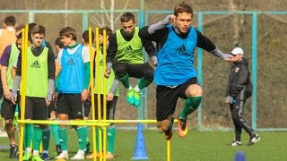 Open training of FC Vorskla (Poltava, Ukraine)