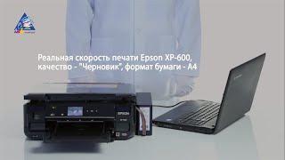 Epson PX-045A: тест на скорость печати текста