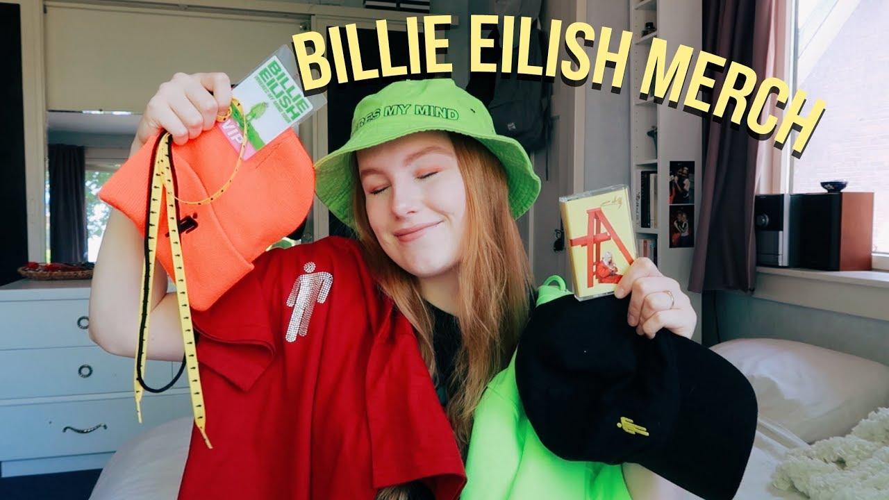 Billie Eilish Merch Collection (HUGE) - YouTube 032f32f9371a