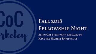 Fellowship Night 2018-11-14