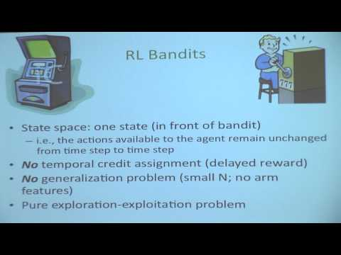 [PURDUE MLSS] A Short Course on Reinforcement Learning by Satinder Singh Baveja (Part 1/6)