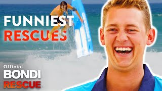 FUNNIEST Lifeguard Rescues In Bondi Rescue History