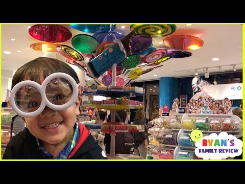 Thumbnail: Kid in a candy store Dylan's Candy + Family Fun Trip Hotel Tour with Ryan's Family Review