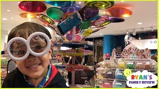 Kid in a candy store Dylan's Candy  + Family Fun Trip Hotel Tour with Ryan's Family Review