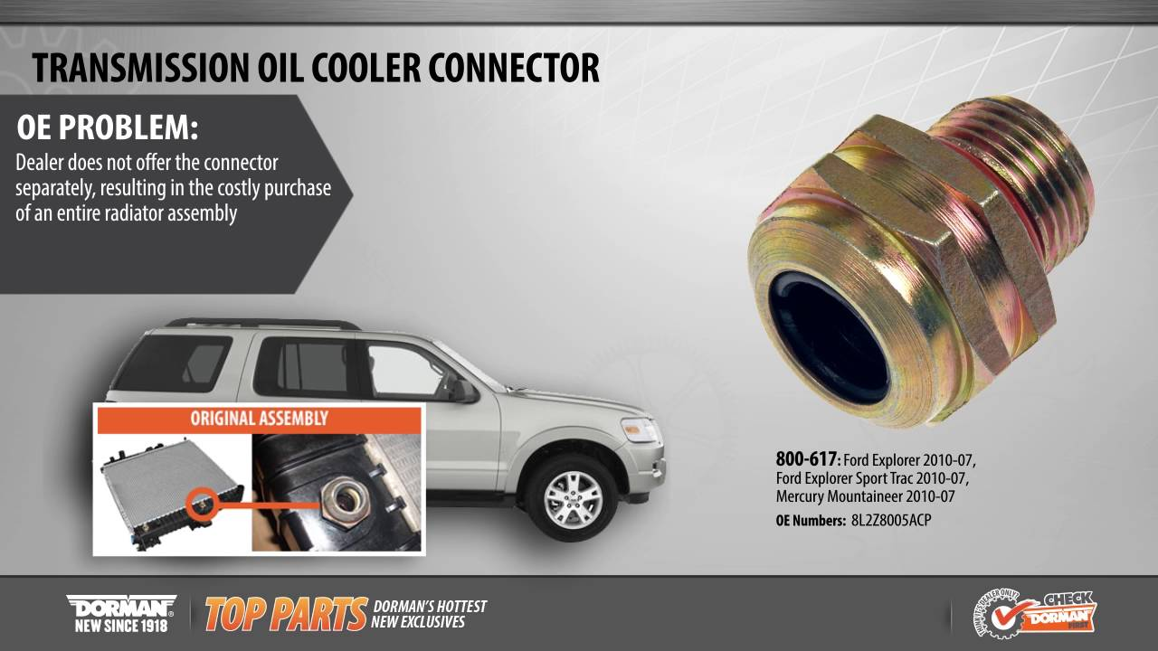 Quick Connect Transmission Oil Cooler Fittings