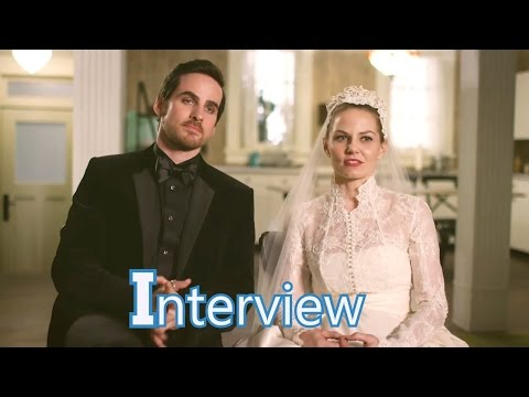 Once Upon a Time 6x20 Interview Jennifer Morrison & Colin O'Donogue Emma & Hook Season 6 Episode 20