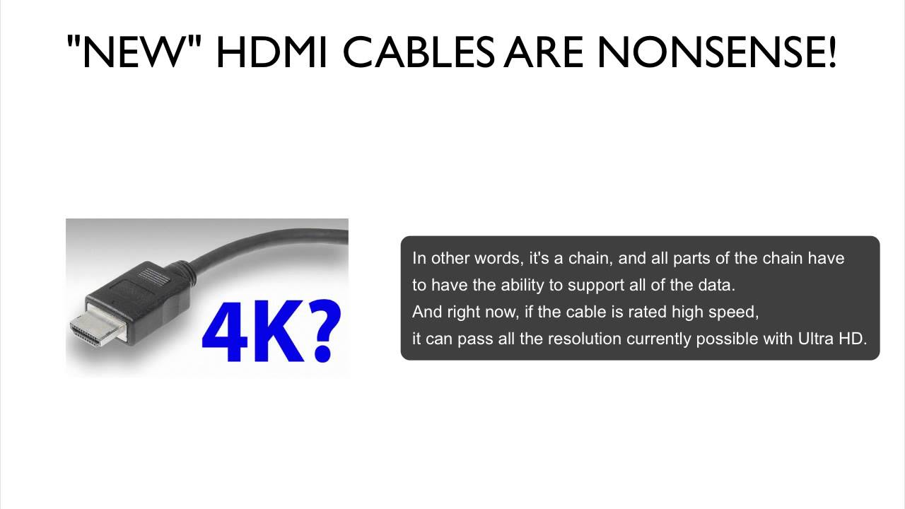4K HDMI CABLES ARE NONSENSE! - YouTube
