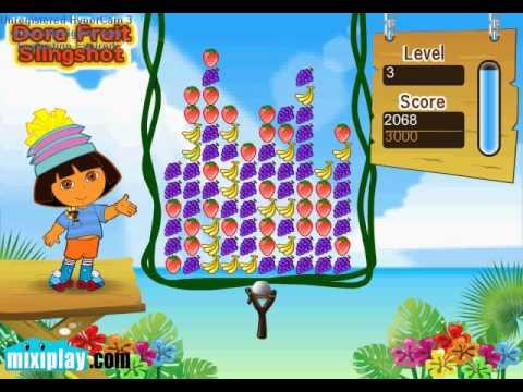 Random Game Play: Dora Fruit Slingshot |