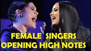 FAMOUS FEMALE SINGERS - OPENING HIGH NOTES!