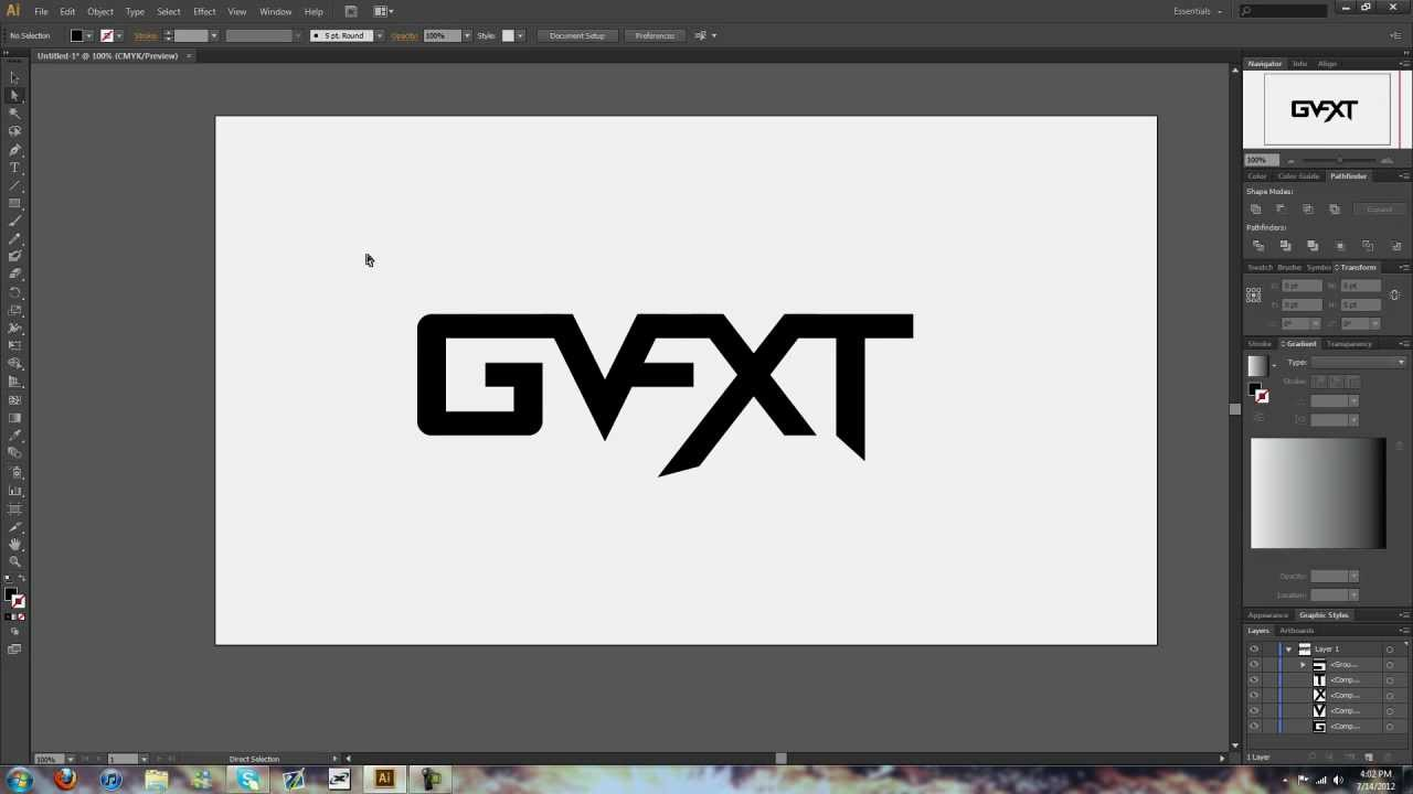 how to make a text logo in illustrator