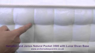 Hamilton And James Natural Pocket 3500 With Lunar Divan Base