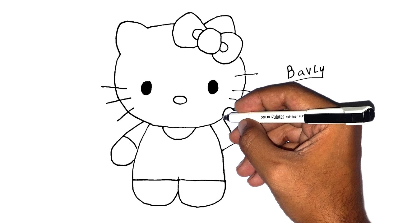 How To Draw Kitty Cat For Kids