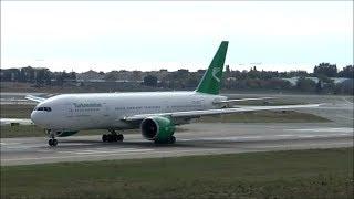 HD Turkmenistan Boeing 777-200LR takeoff at Istanbul Ataturk Airport - 09/10/2015