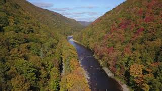 Big Intervale Fishing Lodge - river above the lodge - Fall 2018