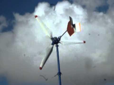 Stary wiatrak na szerokim płacie 3,2m średnicy turbina wiatrowa
