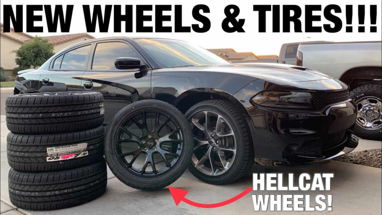 Goin Wider Hellcat Replica Wheels And New Tires On My 2019 Dodge