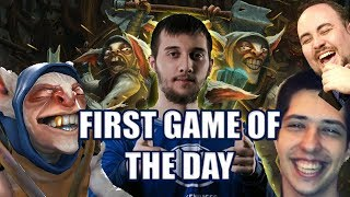 Video Dota 2: Arteezy - MEEPWNED | First Game of the Day download MP3, 3GP, MP4, WEBM, AVI, FLV Agustus 2018