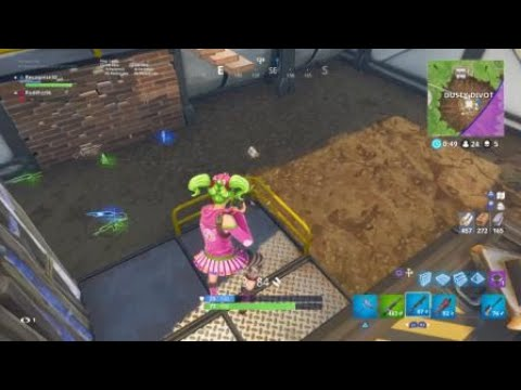 Collateral Damage 2 People killed With 1 Bullet From A Pump Shotgun In Fortnite(Recognise30 LiveBC)