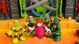 Just4fun290 presents Imaginext Samurai Castle TMNT teenage mutant n...