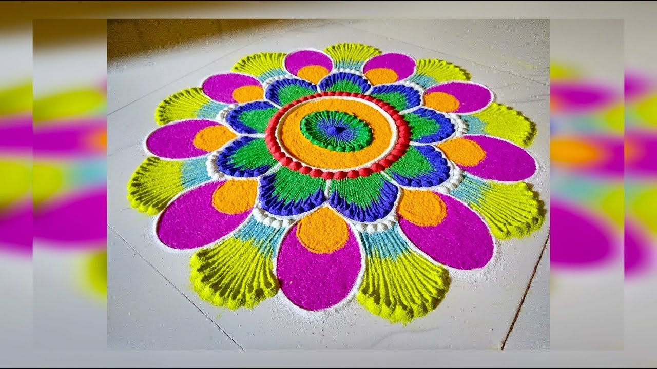 भाई दूज दिवाली रंगोली डिजाइन | Bhai dooj diwali rangoli design | Mom's Talent |
