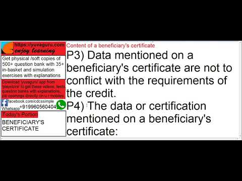 Cdcs video lectures isbp 745 beneficiary certificate p1 p2 p3 p4 cdcs video lectures isbp 745 beneficiary certificate p1 p2 p3 p4 by vishal mantri 919960560404 yadclub Image collections