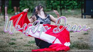 CHRISTIAN CHURCH WORSHIP MOMENT / Dance with CANADA FLAGS Silk Veil Scarf  ft: Claire CALLED TO FLAG