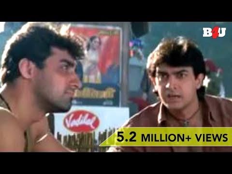 Twinkle Khanna Steals Aamir Khan's Clothes   Mela   Comedy Scene   Full HD