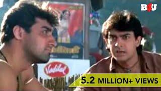 Twinkle Khanna Steals Aamir Khan's Clothes | Mela | Comedy Scene | Full HD