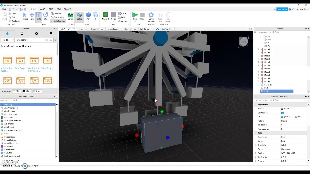 Roblox Studio Decor How To Make A Working Ferris Wheel Part 2