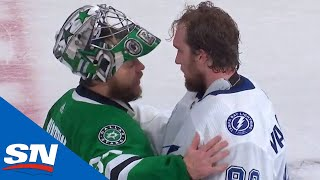 Lightning And Stars Shake Hands After Hard-Fought Stanley Cup Final