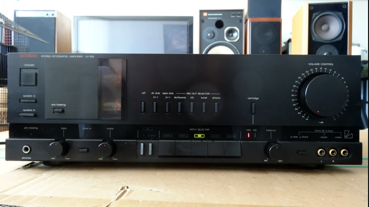 Luxman LV-105 Hybrid amplifier tested on B&O Beovox M100 and Canton RC-L