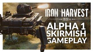 Iron Harvest Gameplay | Alpha 01 - Mechs vs Mechs Skirmish (Easy & Hard)