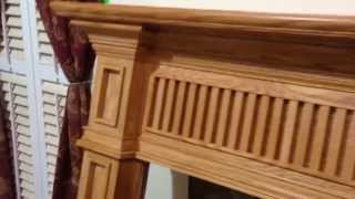 Custom Fireplace Mantel (red Oak)
