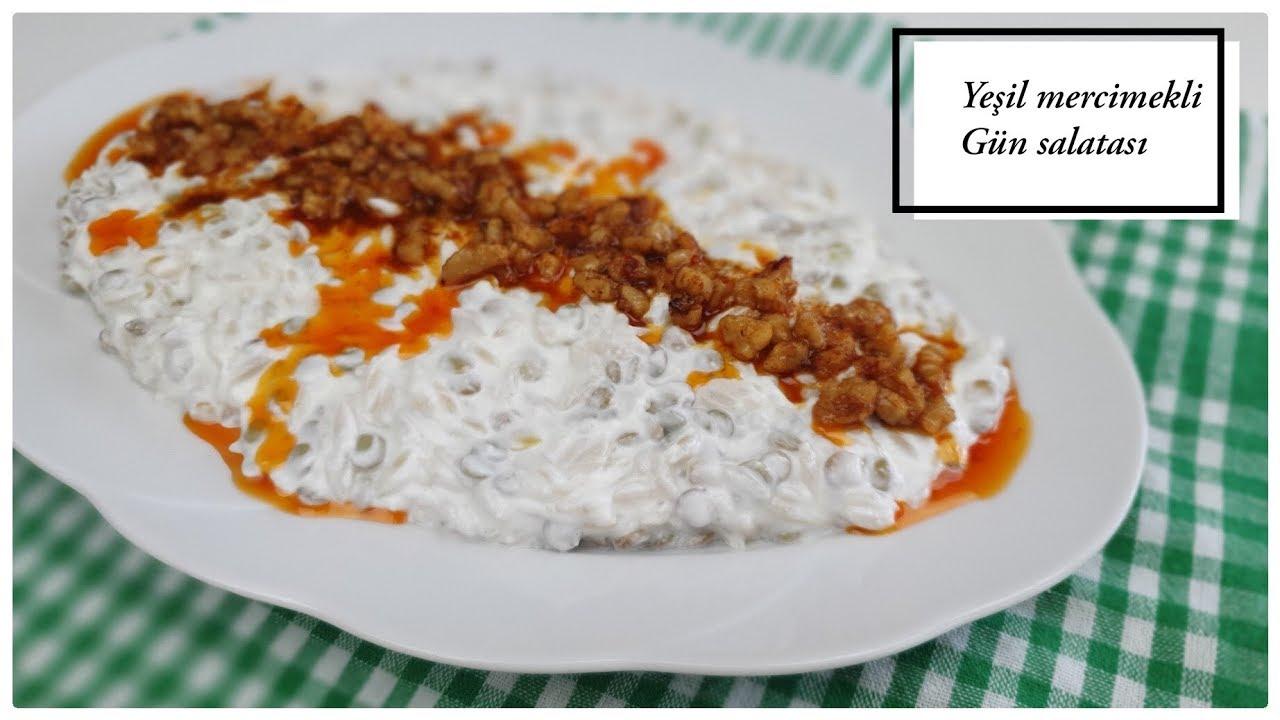 Yeşil mercimekli gün salatası / çay saati tarifleri / nefis yemek tarifleri / Figen Ararat
