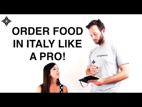 How to order food in Italian like a Pro at a Restaurant! - Free Italian Lesson