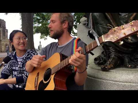 "Craig Cardiff ""Not My Monkeys"" on Parliament Hill"