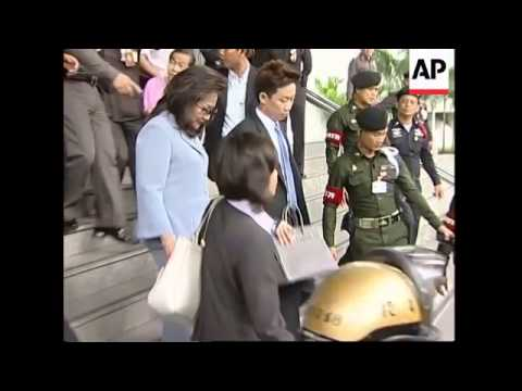 WRAP Wife of ousted Prime Minister gets three years for tax evasion