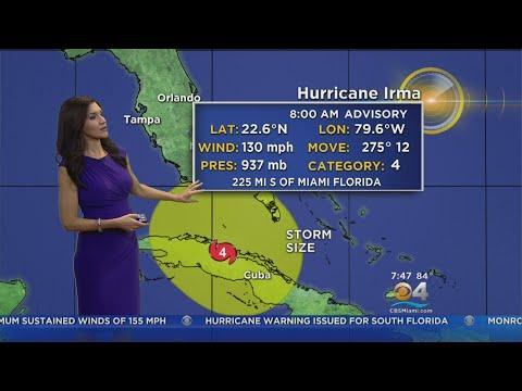 Tracking Hurricane Irma 9/9 8AM